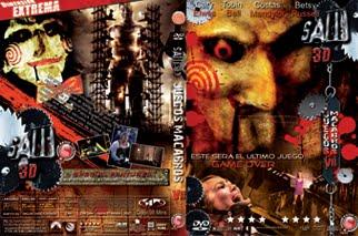Dvd Covers Jim Ros Saw 3d Juegos Macabros Vii