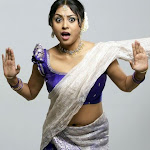Tamil Actress Meenakshi Hot Neval Show In Saree