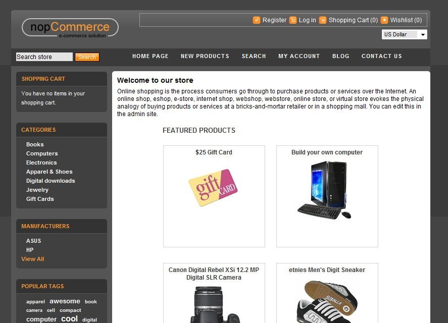 Nopcommerce themes templates how can i for Nop commerce templates