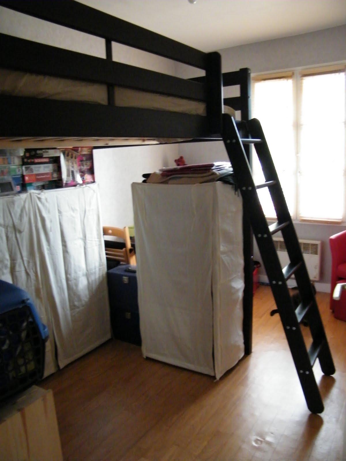 dressing sous lit mezzanine lits superposs sur mesure. Black Bedroom Furniture Sets. Home Design Ideas