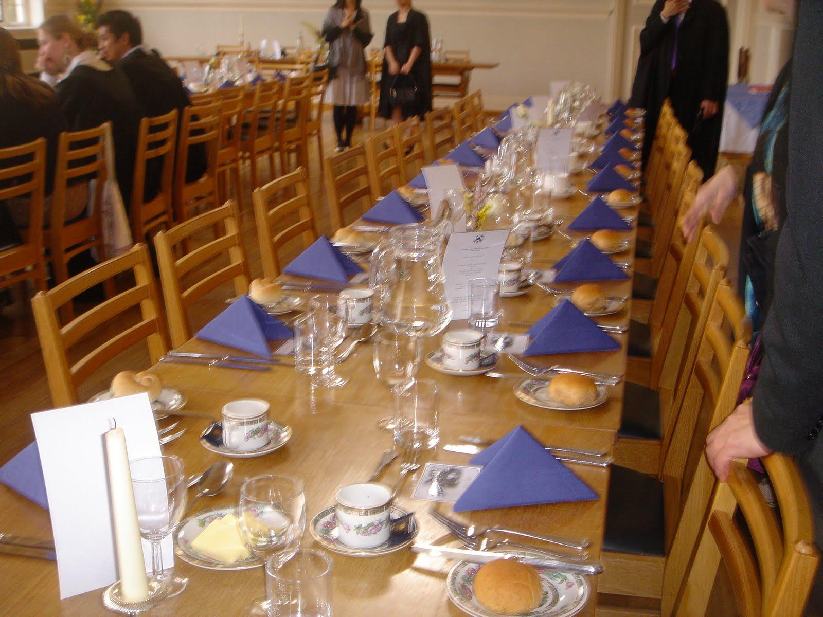 夢遊者的野帳本: Newnham College Formall Hall