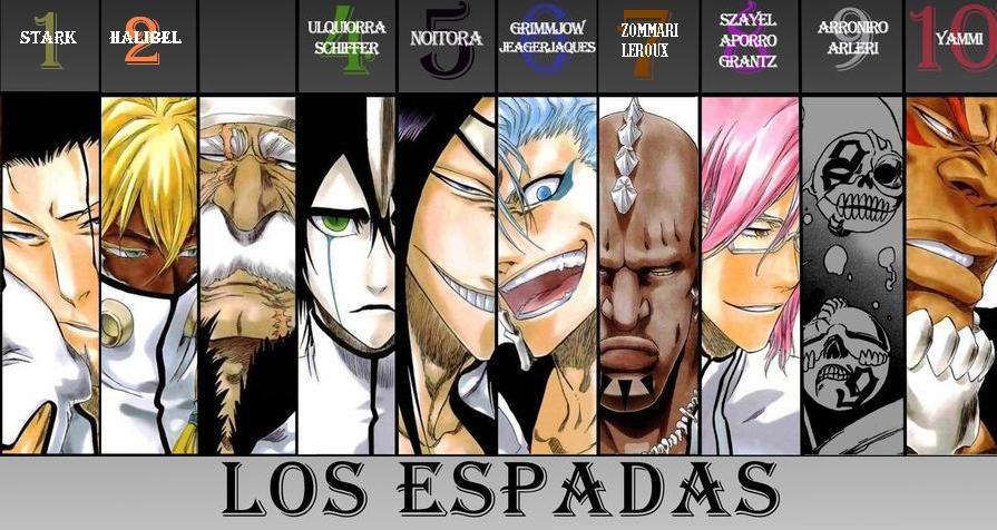 Bleach the 10 espada - Bleach espadas ...