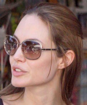 60645cf2faf Celebrities wearing chanel aviator sunglasses louisiana jpg 300x363  Angelina jolie who wears oliver peoples