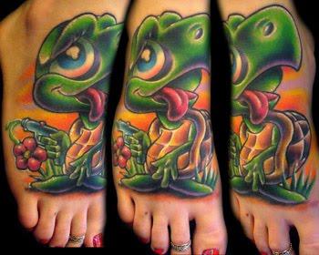 Zentrader Cartoon Turtle Tattoos