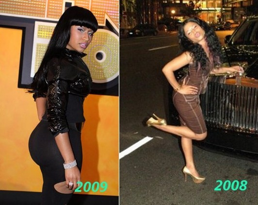 nicki minaj butt is fake