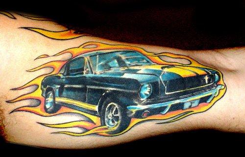 tattoo tattoos racing mustang designs camaro flames stripe stripes flame chevrolet 1960s