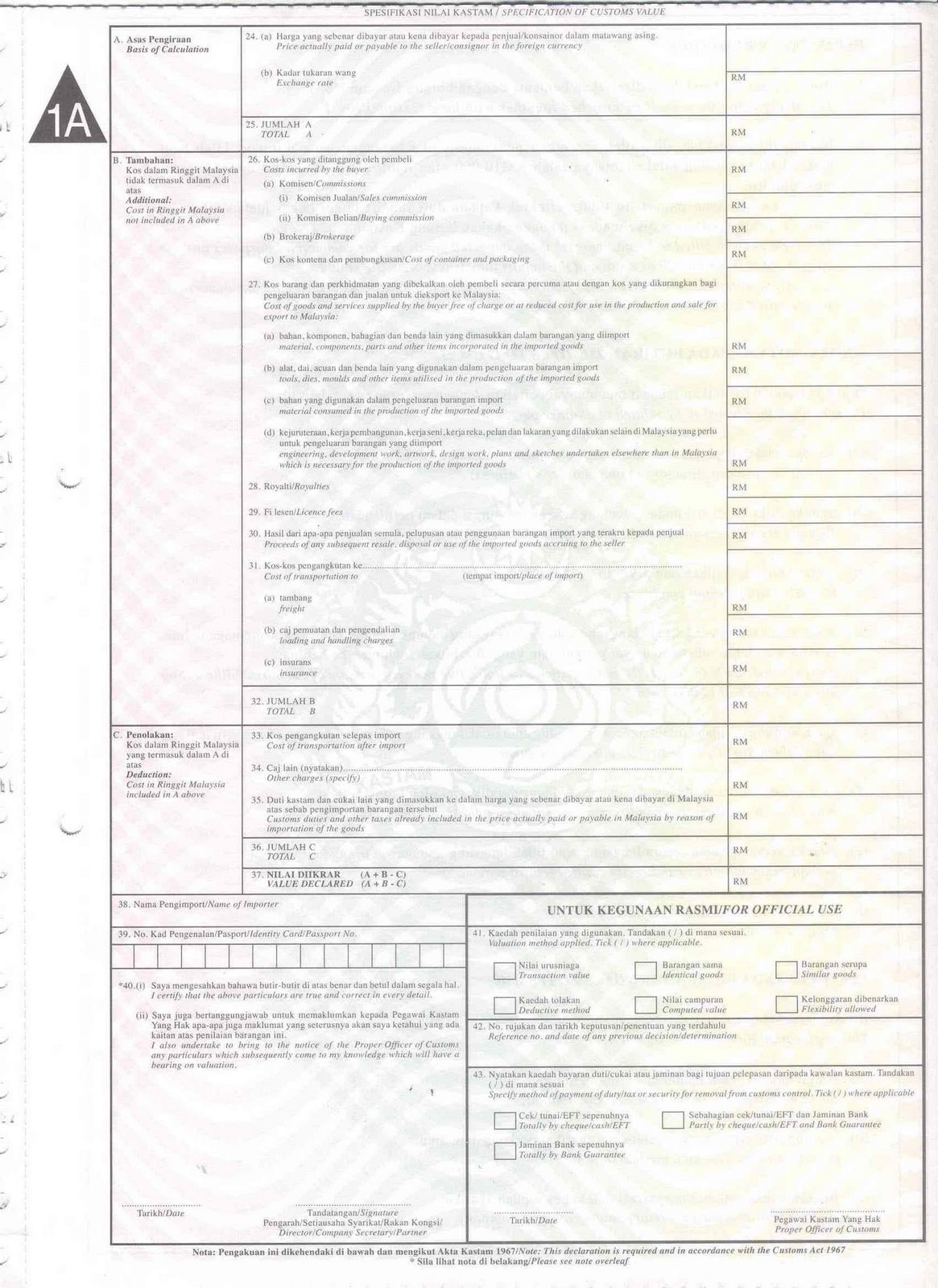 54 Info Sample K2 Form Malaysia Download Doc Zip