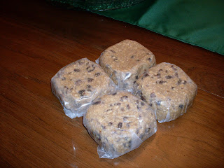 Oatmeal Cookie Dough, for the freezer. Homemade cookies as easy as turning on the overn!