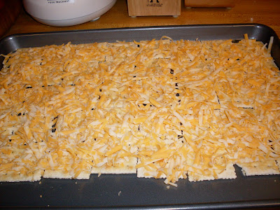 Baked Cheese and Crackers, ready to bake!