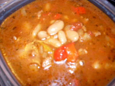 Sausage and Bean Soup, a slow cooker recipe.