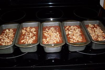Chocolate Mint Zucchini Cake with Walnuts.