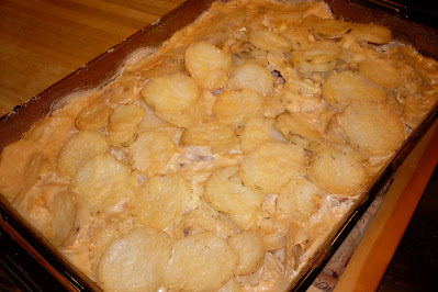 One Pan Pork Chops and Scalloped Potatoes, just like mom made!