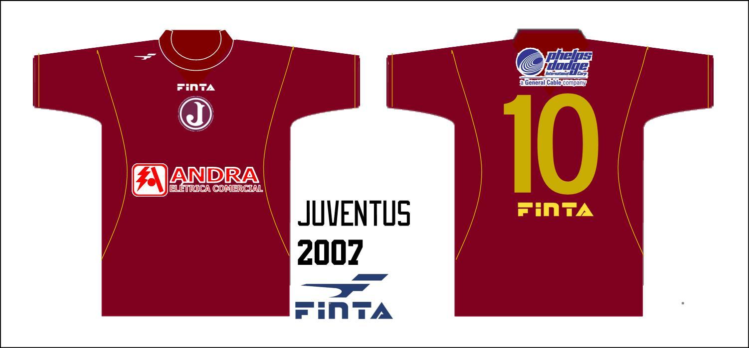 O Juventus jogou pouquíssimas vezes no final de 2007 e começo de 2008 com  esta camisa Finta 45233fa83eb9f