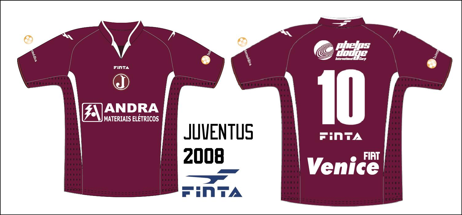 2587051f2a Manto Juventino - As camisas do Clube Atlético Juventus  2008 ...