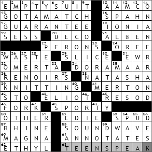 0501-10 New York Times Crossword Answers 1 May 10
