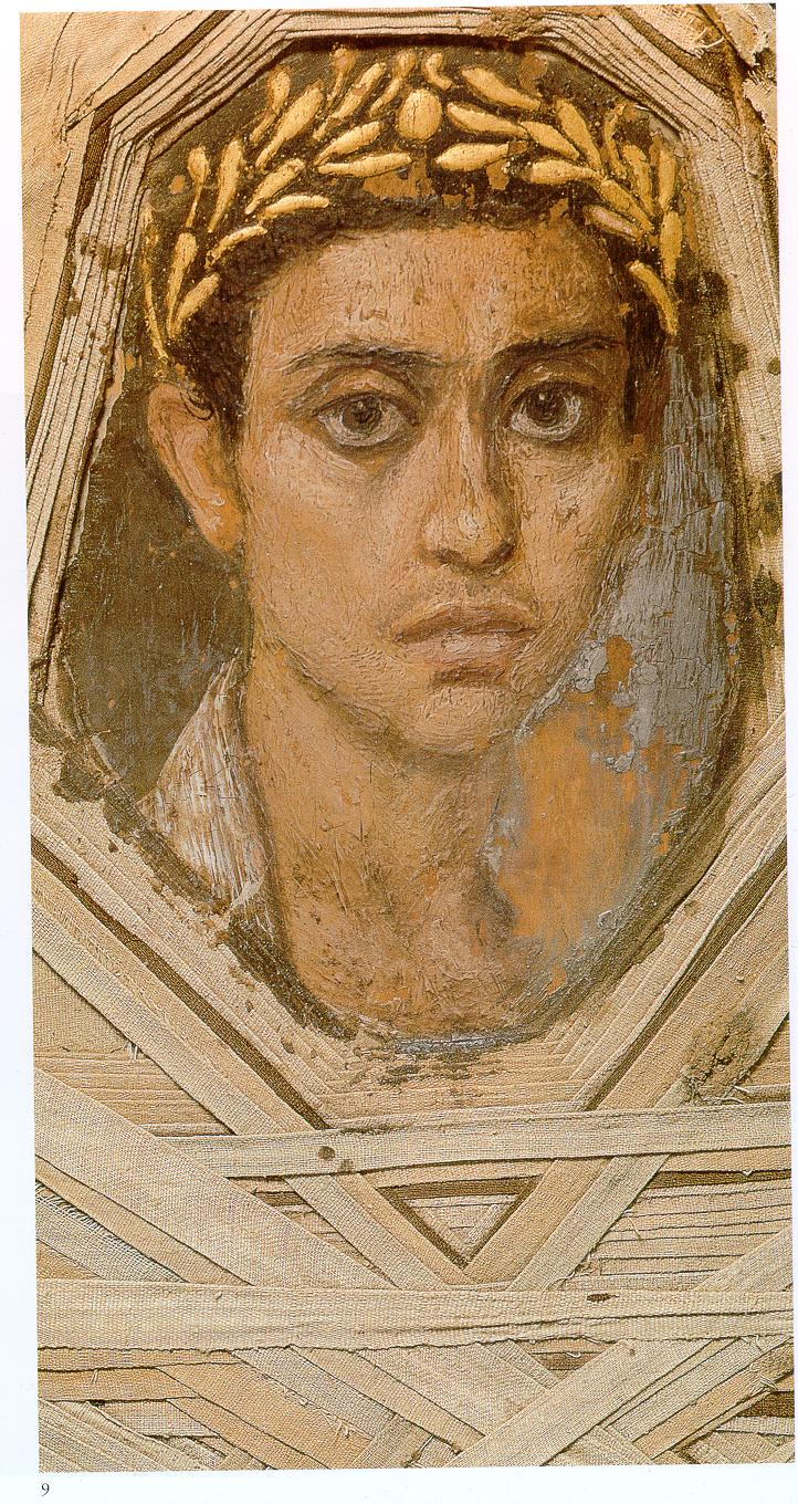 Portrait Ofa Girl 14 Years In Nature Stock Image: The Art History Journal: Fayum Mummy Portraits