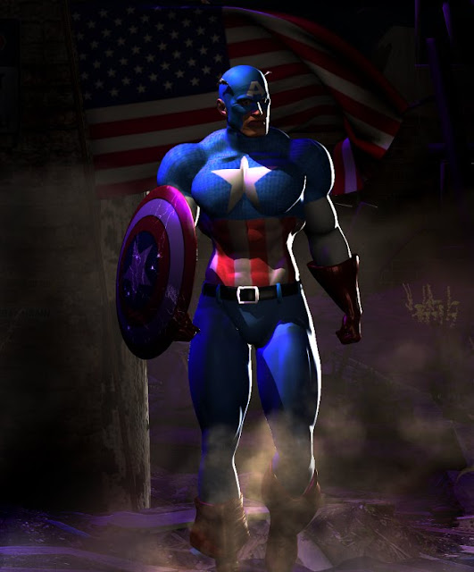 Captain America 3d character