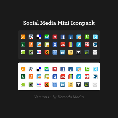Social Media Mini Icon Pack