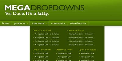 Mega Drop Down Menus w/ CSS & jQuery