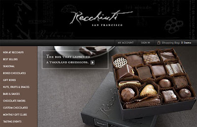 sites of cakes, chocolats and desserts for a sweet web design