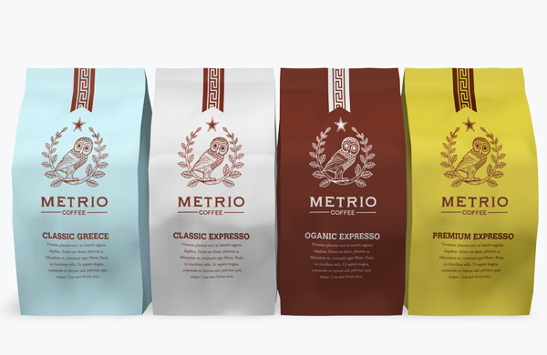 Metrio Coffee Visual Identity
