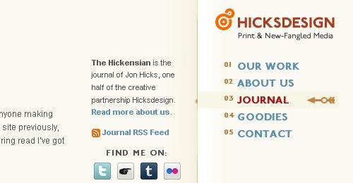 The Hickensian web design