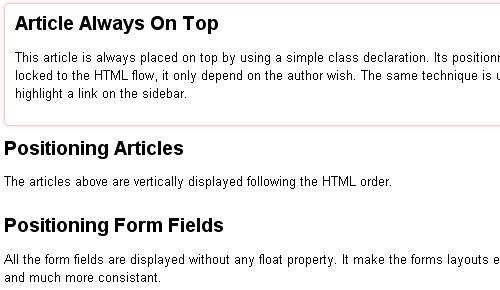 The CSS 3 Flexible Box Model