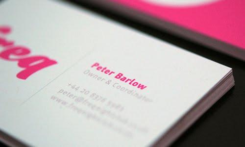 Freq Nightclub business card