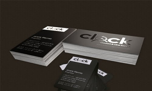 Clock Restaurant & Wine Lounge business card