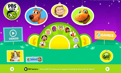 PBS Kid website design