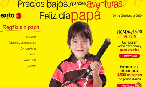 Feliz día papá kid website design