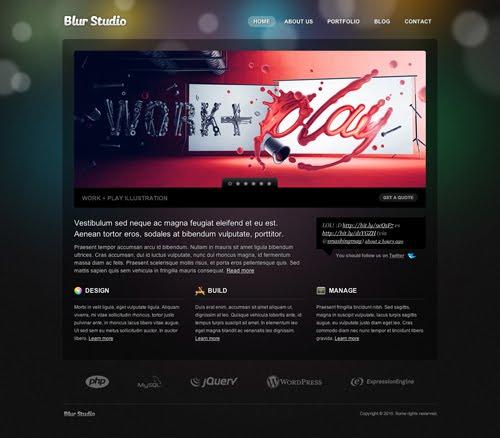 blur 3d web design