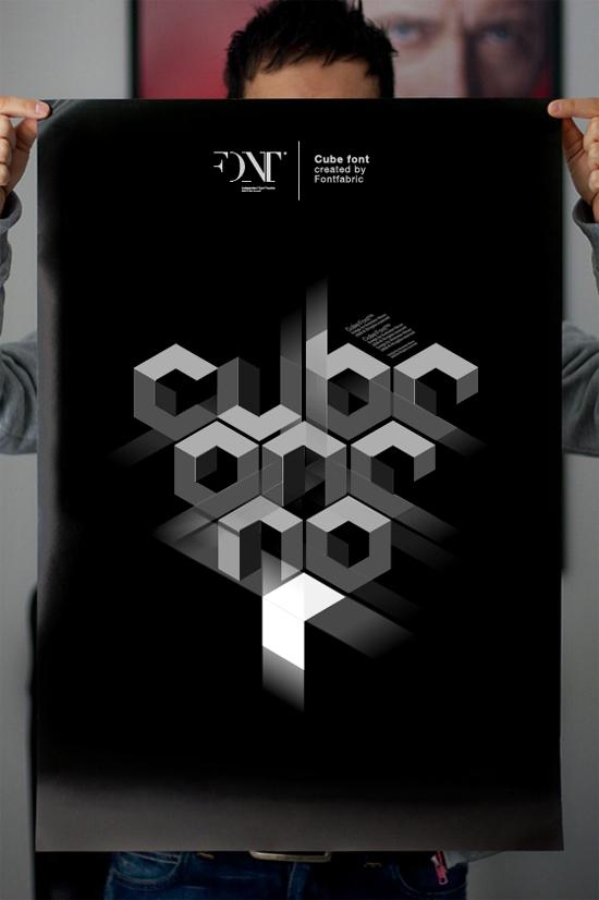 Cube 02 font