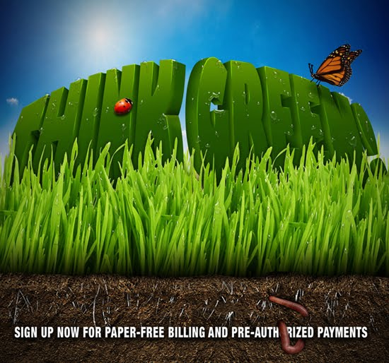 Think Green ad