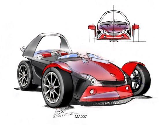 Higgins-Aubé Energya 3d concept car design