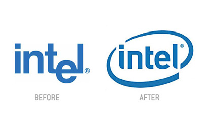Intel logo design