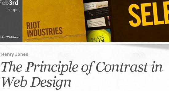 Principle of Contrast in Web Design