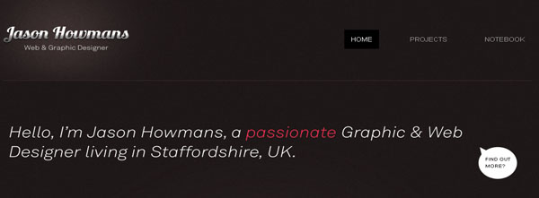 Jason Howmans web design
