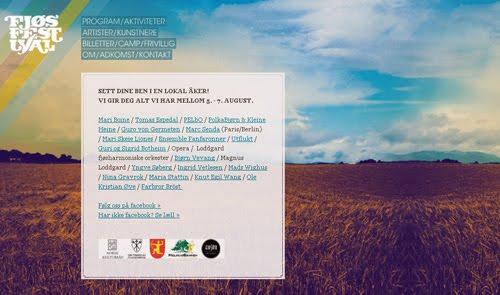 Fjosfestivalen web design