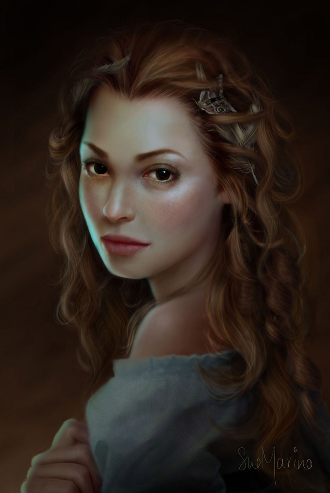 Digital Painting Portraits Of Women