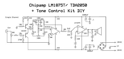 wiring schematic diagram i c amp lm75t tda2050 tone. Black Bedroom Furniture Sets. Home Design Ideas