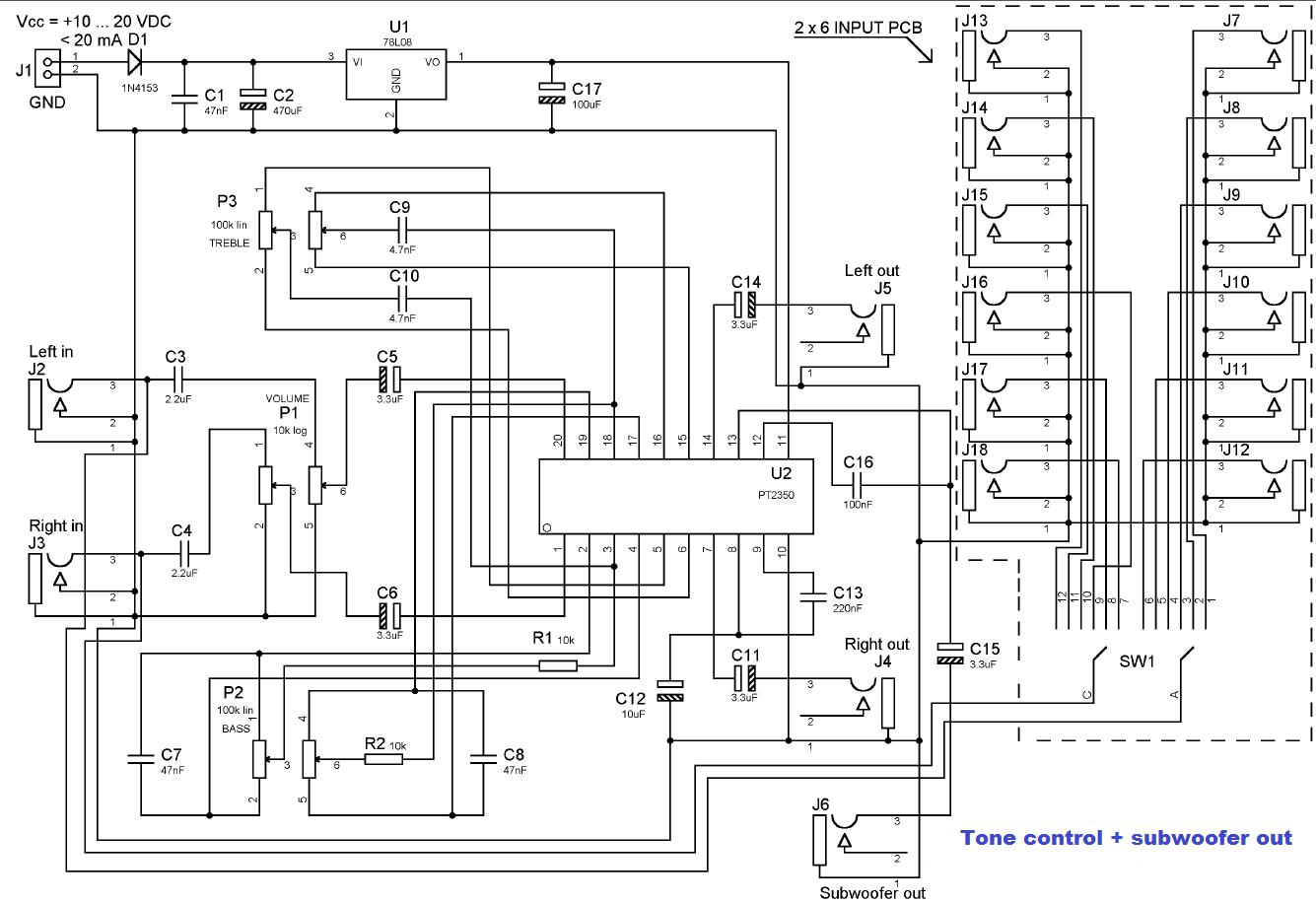 wiring diagram filter subwoofer