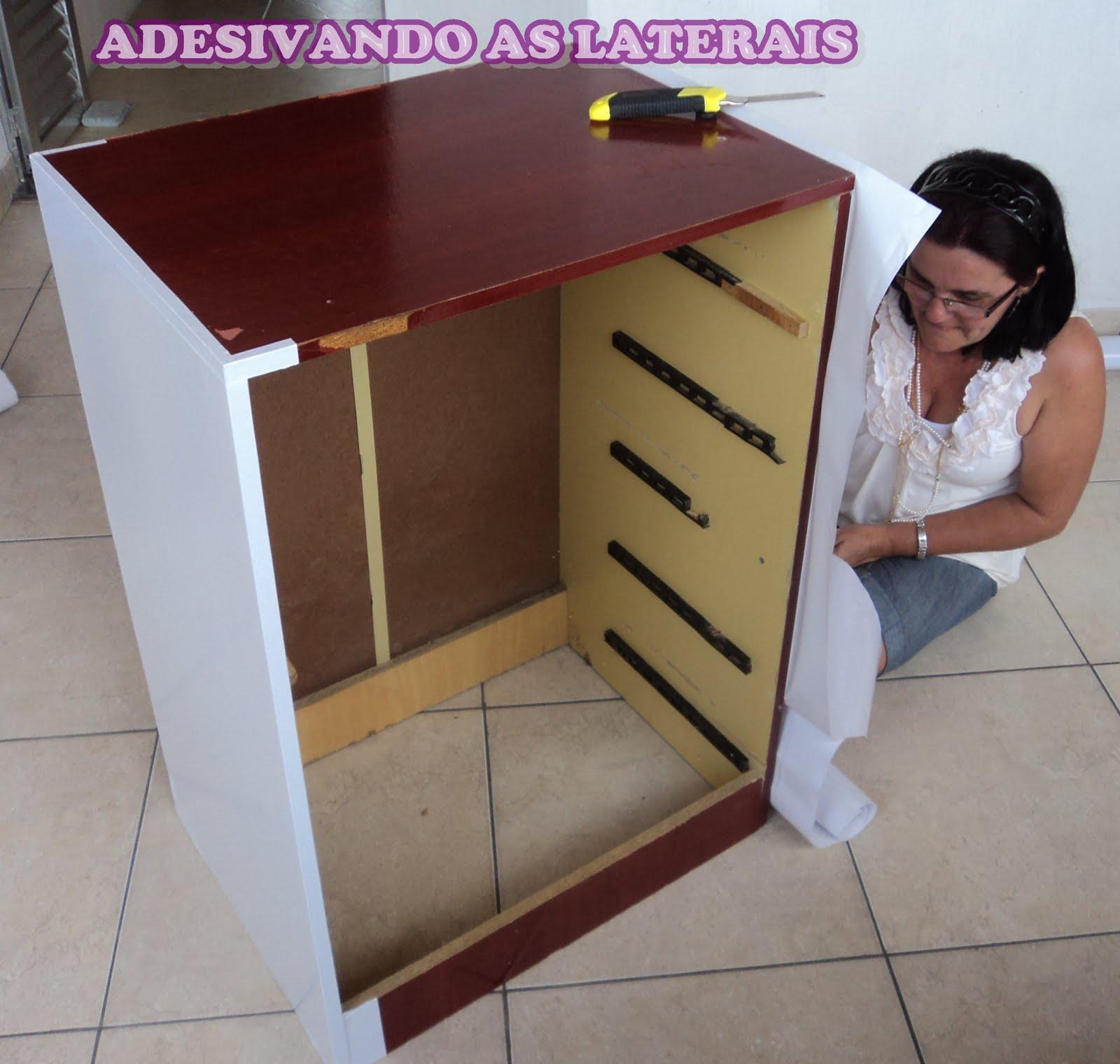 Adesivo Moveis Branco ~ Restauraç u00e3o de móveis com Contact Arte Mulher