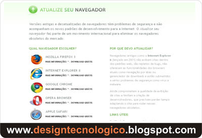 atualize navegador