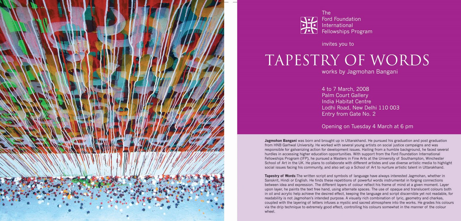 "JAGMOHAN BANGANI: Uttarakhand, India: ""Tapestry of Words"""