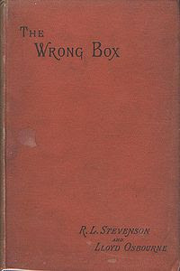 Book Cover Art for The Wrong Box by Robert Louis Stevenson