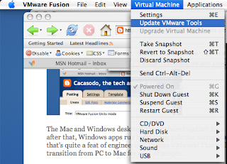 tech answer guy: VMware Fusion Unity mode
