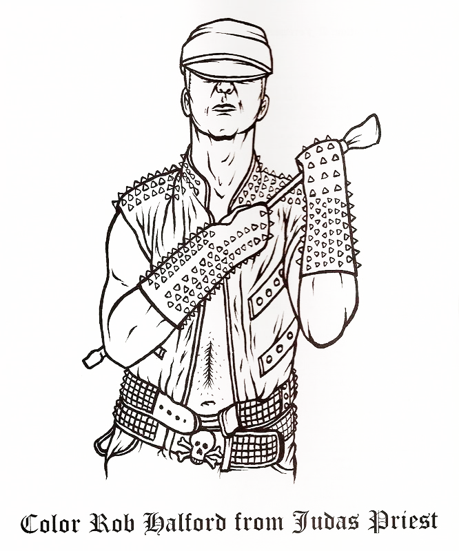 heavy metal band coloring pages - photo#6
