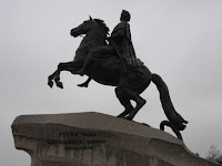 Statue of Peter the Great in St Petersburg Russia