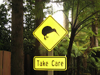 Kiwi sign in New Zealand